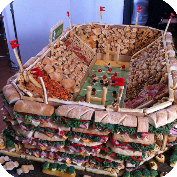 Football sunday snack stadiums how2getfat for Dining at t stadium